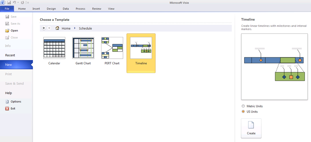 Creating A Portfolio Timeline Report In Visio Part Project - Visio timeline template