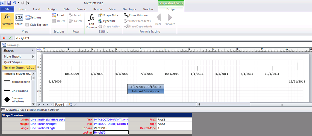 Download portfolio timeline report in visio part 3 project for Visio timeline template download